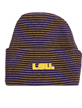 LSU Tigers Striped Knit Infant Hat - Purple and Gold