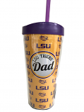 LSU Tigers Dad Insulated Tumbler - Gold
