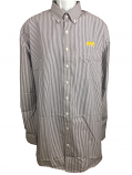 LSU Tigers Men's Tall Cutter & Buck Easy Care Striped Button-Up Shirt - Purple and White
