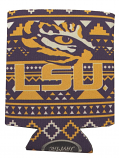 LSU Tigers Aztec Can Coozie - Purple and Gold