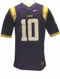 Nike LSU Tigers #10 Limited Football Jersey - Purple