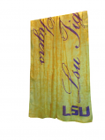 LSU Tigers Women's Script Scarf - Gold