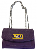 LSU Tigers Harriet Handbag with Chain - Purple