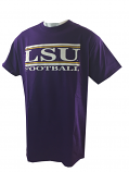 LSU Tigers Men's Football Bar Design Cotton T-Shirt - Purple