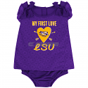 LSU Tigers Infant My First Love Onesie - Purple