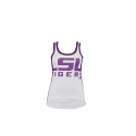 LSU Tigers Women's G III by Carl Banks Mesh Tank - White and Purple