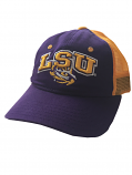 LSU Tigers Toddler The Game Mesh Snap Back Relaxed Hat - Purple & Gold