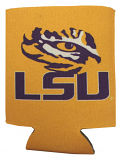 LSU Tigers Tiger Eye Gold Can Coozie - Gold, White & Purple