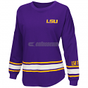 LSU Tigers Women's All Around Oversized Long Sleeve Top - Purple