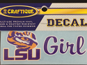 "LSU Girl Tiger Eye 4"" Decal - Purple and Gold"