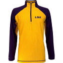 LSU Tigers Men's Antigua NCAA Playmaker 1/4 Zip Pullover Jacket - Purple and Gold