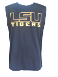 LSU Tigers Badger Revised Performance Sleeveless Tank Top - Black