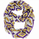 LSU Tigers Aztec Infinity Scarf - Purple, Gold & White