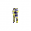 LSU Tigers Men's Countdown Plaid Pajama Pants - Purple and Gold