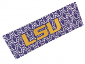 LSU Tigers Damask Stretch Headband - Purple and White
