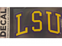 "Color Shock LSU Arched Collegiate Classic Font 3"" x 5"" Decal - Purple and Gold"
