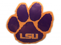 "Craftique LSU Tigers 3"" Paw Decal - Purple and Gold"