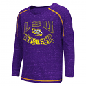 LSU Tigers Colosseum Youth Girl's Lily Long Sleeve Top - Purple