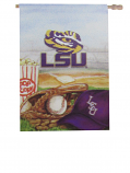 "LSU Tigers Baseball Field Double-Sided House Flag - 28"" x 40"""