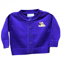 LSU Tigers Infant and Toddler Cardigan Sweater - Purple