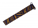 Gameday Tiger Stripe Grograin Headband - Purple & Gold