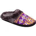 LSU Tigers Women's Aztec Slide Slippers - Purple and Gold