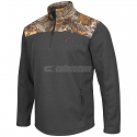 Colosseum LSU Tigers Men's Buckshot 1/4 Zip Jacket - CHARCOAL/REALTREE EXTRA