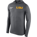 Nike Men's LSU Tigers Stadium Touch Pullover Hoodie - Grey