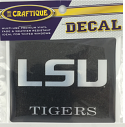 "LSU Tigers 4"" Premium Vinyl Decal - Black and Silver"