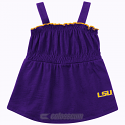 LSU Tigers Infant Hopscotch Romper Dress- Purple