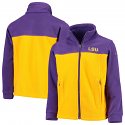 Columbia LSU Youth Purple & Gold Flanker II Full Zip Fleece Jacket