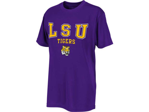 Colosseum LSU Tigers YOUTH and CHILD Polyester Scoreboard T-Shirt - Purple