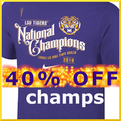 LSU NATIONAL CHAMPS Apparel